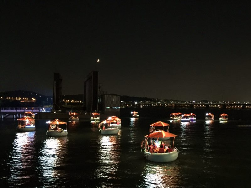 Seoul Bamdokkaebi Night Market - Banpo Hangang Park - Tubester at Night - Sehee in the World (photo courtesy of Tubester)