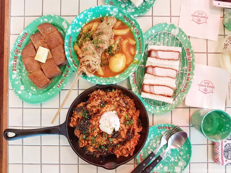Dosan Bunsik Popular Dishes from Menu (by Sehee in the World)