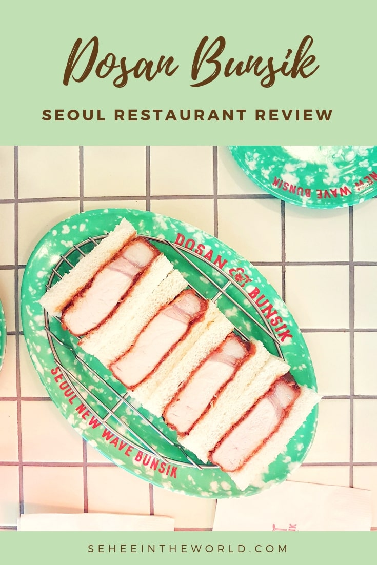 Seoul Restaurant Review: Dosan Bunsik by Sehee in the World (Pinterest Share)