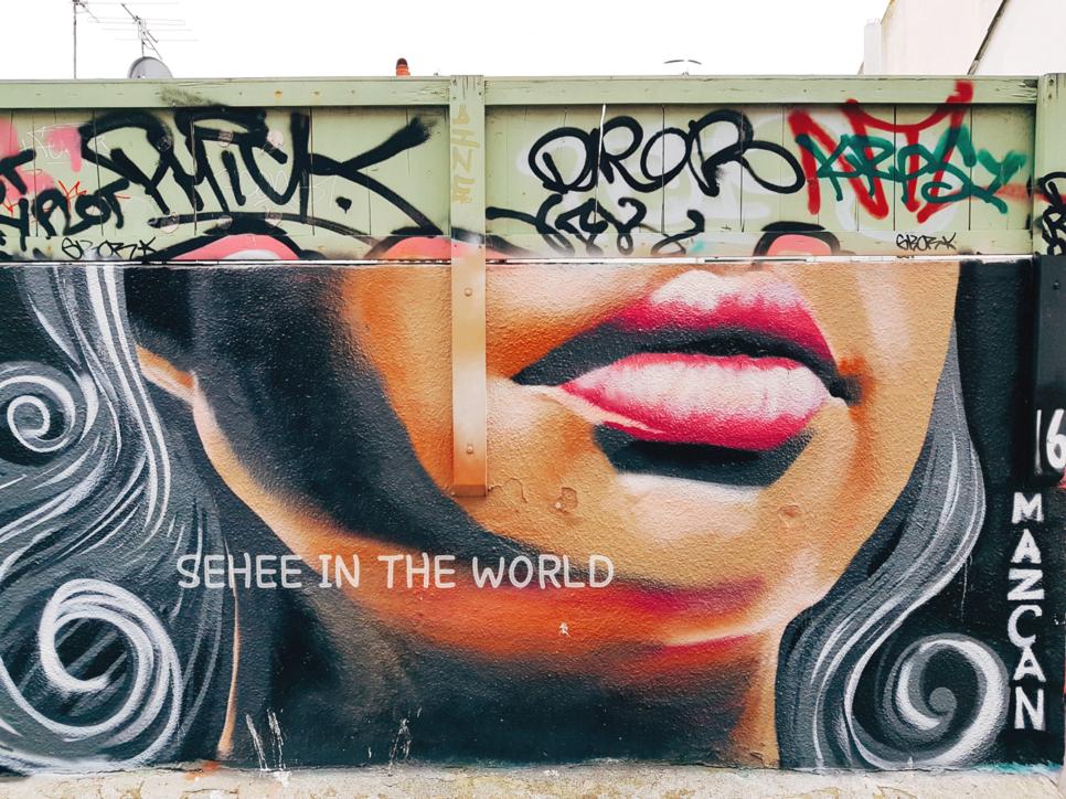 Brighton, Alley, Graffiti, lips