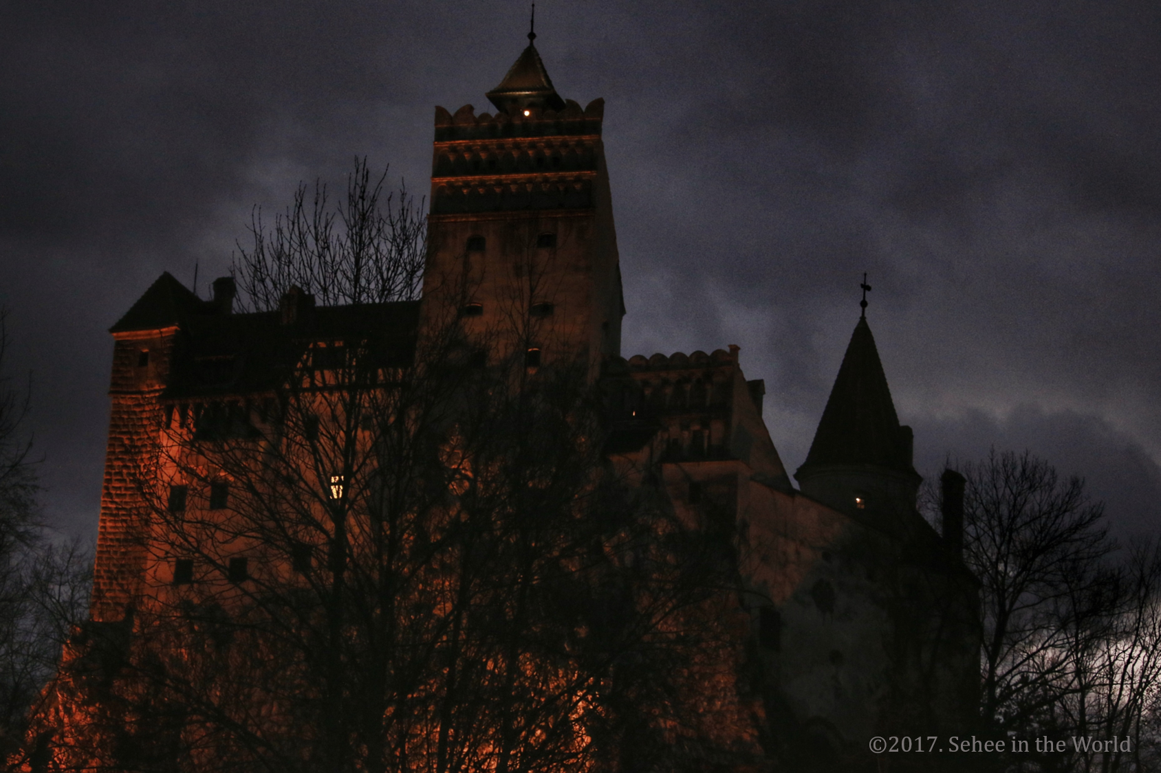 Bran Castle, Romania, Halloween, Dracula Castle, Halloween night, Sehee in the World