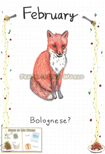 Bullet journal cover ideas for wildlife lovers - my February page design: fox, drawn by. Sehee in the World